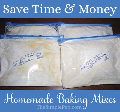 Save Time & Money with Homemade Baking Mixes {Cornbread Recipe}  || TheSimplePen.com