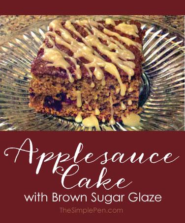 Applesauce Cake with Brown Sugar Glaze || TheSimplePen.com