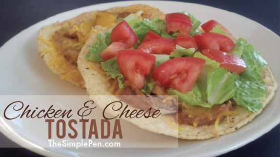 Chicken & Cheese Tostada