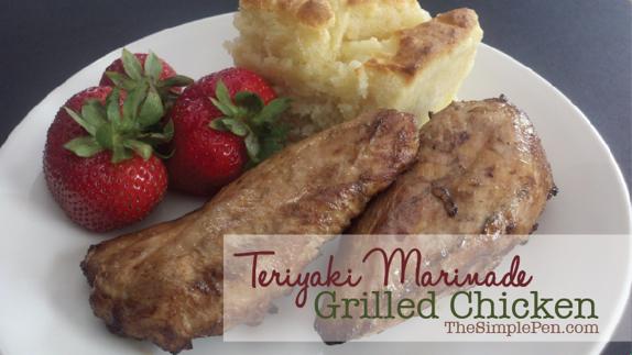 Teriyaki Marinade Grilled Chicken