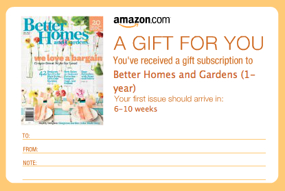 Amazon Magazine Gift Card