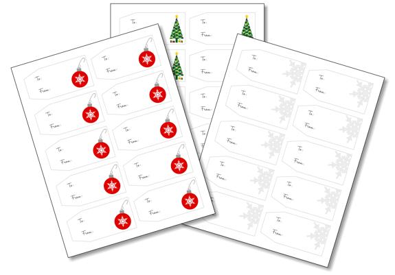 Christmas Gift Tags - Free Printable