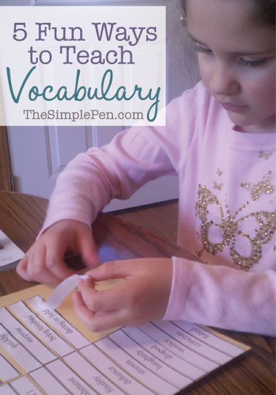 Fun Ways to Teach Vocabulary
