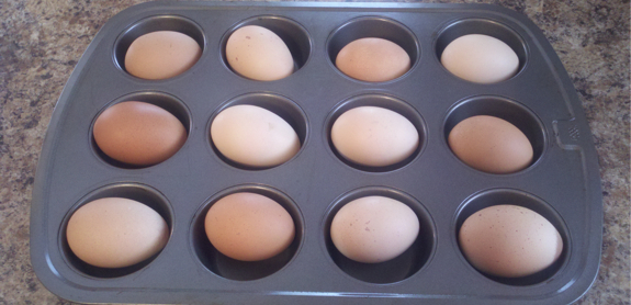 Baking Hard Boiled Eggs
