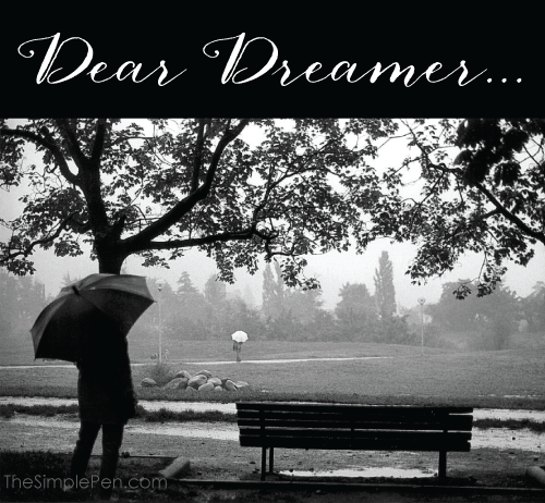 Dear Dreamer :: Encouragement for the days when you struggle with your dream || TheSimplePen.com