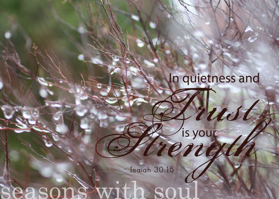 In Quietness Seasons with Soul Print