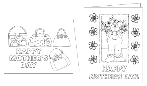 Color Me Mother's Day Cards