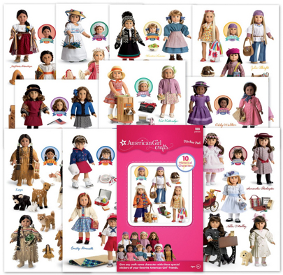 American Girl Stickers
