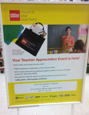Office Depot Star Teacher Event