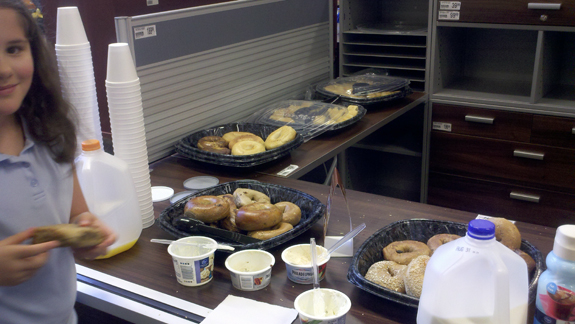 Teacher Appreciation Breakfast at Office Depot