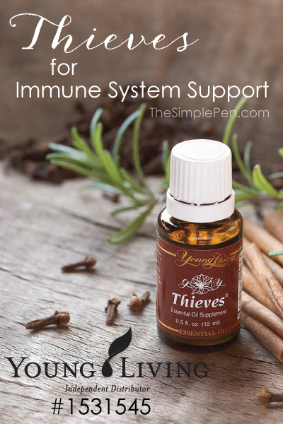 Thieves Essential Oil for Immune System Support || TheSimplePen.com