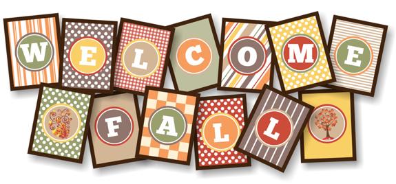 Welcome Fall Printable Banner
