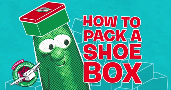 How to Pack a Shoebox with Veggie Tales
