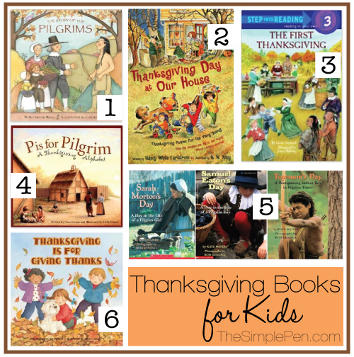 Thanksgiving Books for Kids | TheSimplePen.com