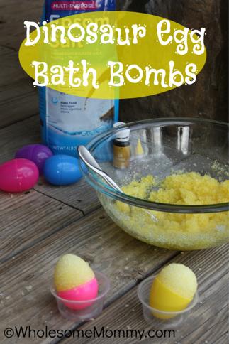Dinosaur Egg Bath Bombs with Essential Oils