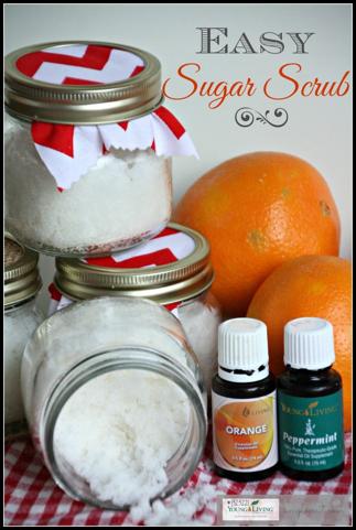 Easy Sugar Scrub with Essential Oils