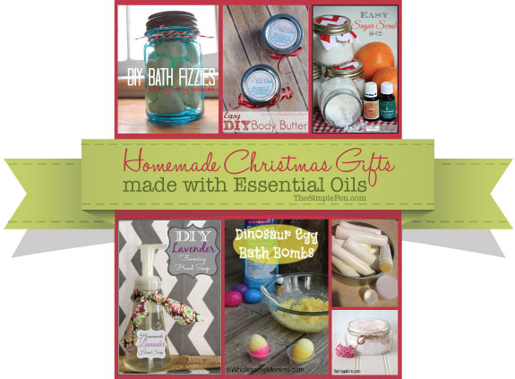 Homemade Christmas Gifts Made with Essential Oils