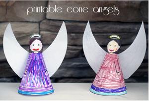 Printable Cone Angels