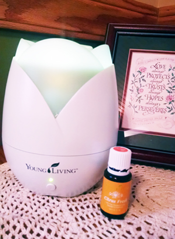 Citrus Fresh Oil in Our Diffuser