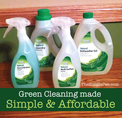 Green Cleaning made Simple & Affordable || TheSimplePen.com