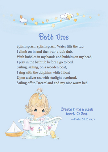 Bath Time Precious Moments Book
