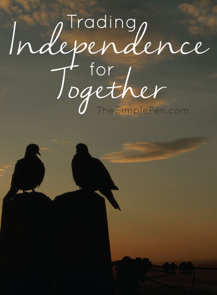 Trading Independence for Together || TheSimplePen.com