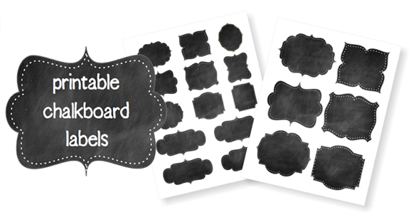 Printable Chalkboard Labels {Free Printable}