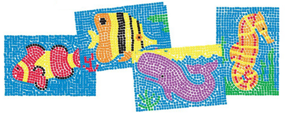 Sticky Mosaics Under the Sea