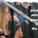 Printable Patriotic Pinwheels