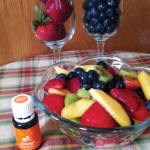 Summer Fruit Salad with Orange Essential Oil || TheSimplePen.com