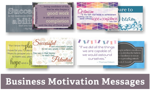 Business Motivation Message Cards