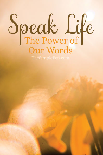 speak life  the power of our words