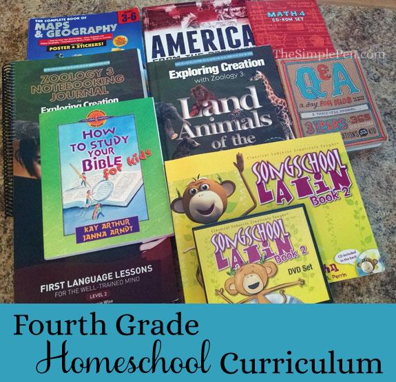4th Grade Homeschool Curriculum || TheSimplePen.com