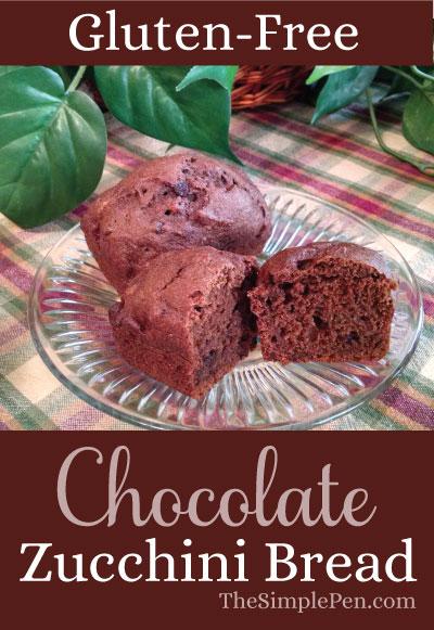 Gluten-Free Chocolate Zucchini Bread || TheSimplePen.com