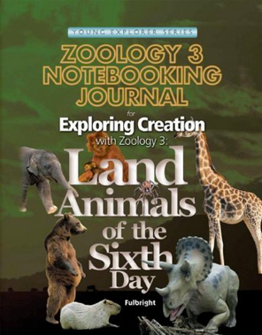 Land Animals of the Sixth Day Notebooking Journal