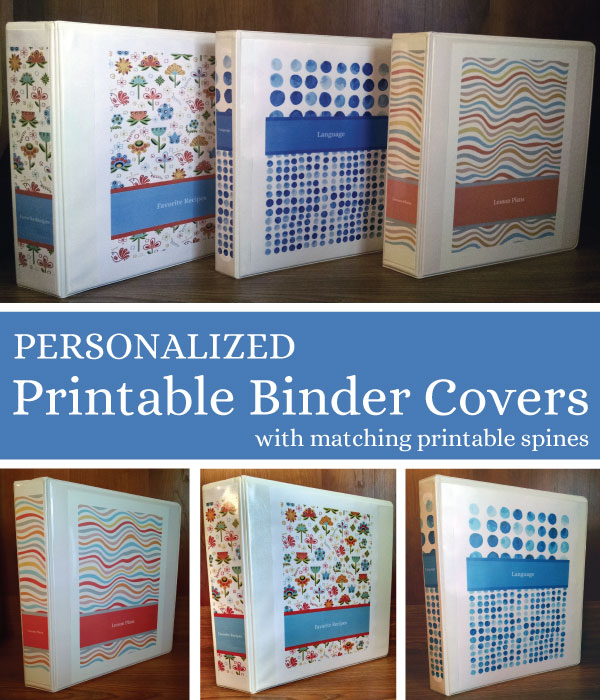 Personalized Binder Covers {Free Printables}