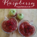Slow Cooker Raspberry Applesauce || TheSimplePen.com