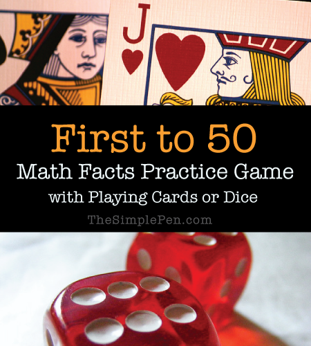 First to 50 Math Facts Game