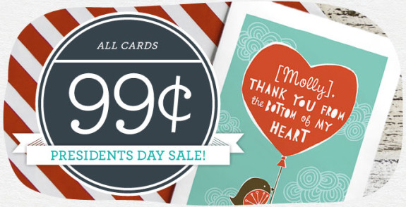 Cardstore 99¢ Greeting Card Sale